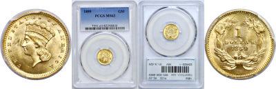 1859. PCGS. MS-63.