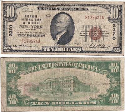1929. $10. VG. New York. Charter 2370.
