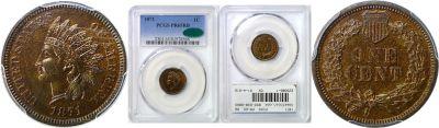 1871. PCGS. PR-65. RB.
