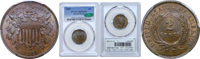 1864 Small Motto. PCGS. MS-65. BN.