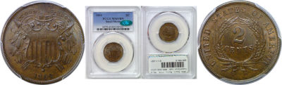 1864 Small Motto. PCGS. MS-65. BN.