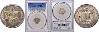 1861. PCGS. Genuine.