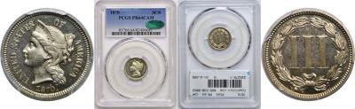 1870. PCGS. PR-64. CAM.