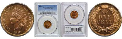 1881. PCGS. PR-65. RB.