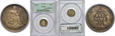 1870. PCGS. PR-64.