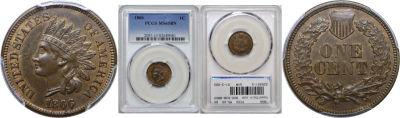 1866. PCGS. MS-65. BN.
