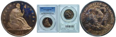 1863. Half Dollar. PCGS. PR-66. RB. J-343..