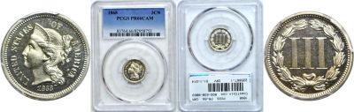 1868. PCGS. PR-66. CAM.
