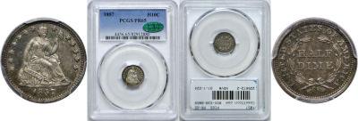 1857. PCGS. PR-65.