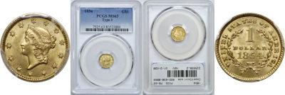 1854. PCGS. MS-63.