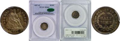 1857-O. PCGS. MS-64.