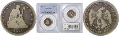 1875-CC. PCGS. G-6.