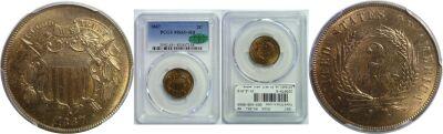 1867. PCGS. MS-65+. RB.