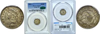 1837. PCGS. MS-63.
