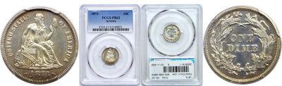 1873. PCGS. PR-63.
