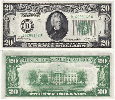 1928-B. $20. F-2052-B. CCU. Federal Reserve Note.