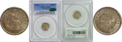 1839. PCGS. MS-65.