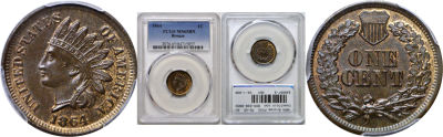 1864 Bronze. PCGS. MS-65. BN.