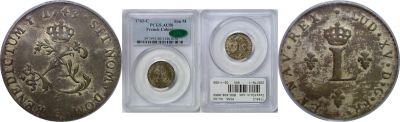 1743-C. French Colonies. PCGS. AU-50.