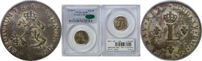 1743-C. French Colonies. PCGS. AU-50.