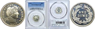 1897. PCGS. PR-64. CAM.