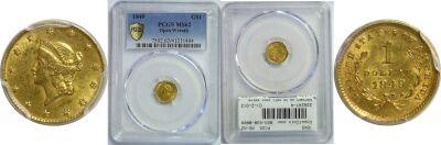 1849. PCGS. MS-62.