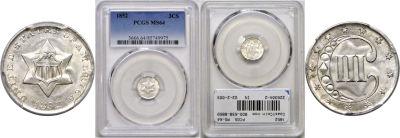 1852. PCGS. MS-64.