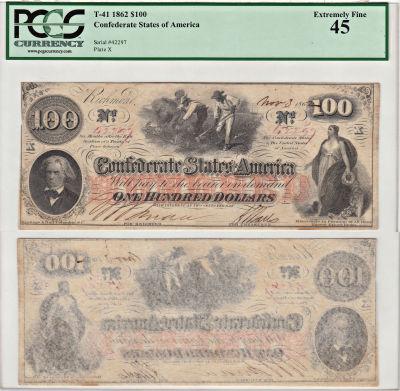 1862. $100. PCGS. XF-45. T-41.