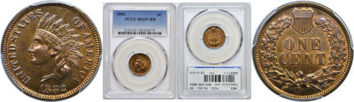 1882. PCGS. MS-65+. RB.