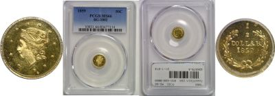 1859. PCGS. MS-66. California Fractional Gold.