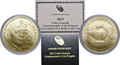 2013-P. CBU. 5 Star Generals $5 MacArthur.
