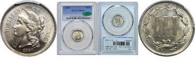 1867. PCGS. MS-65+.