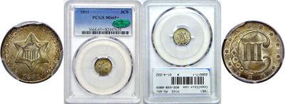 1851. PCGS. MS-65+.