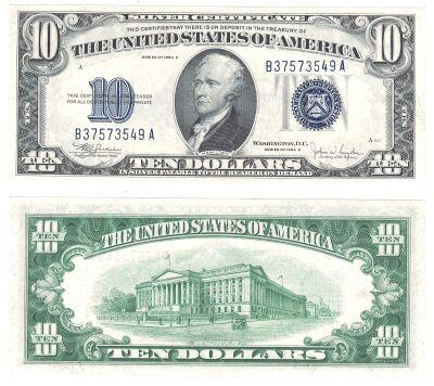 1934-C. $10. F-1704. CCU. Silver Certificate.
