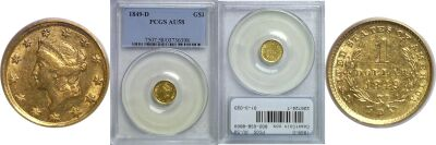 1849-D. PCGS. AU-58.
