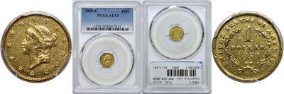 1850-C. PCGS. AU-53.