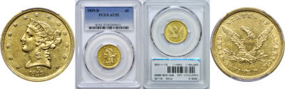1839-D. PCGS. AU-55.