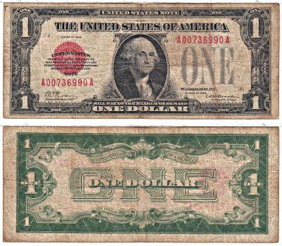 1928. $1. F-1500. VG. Legal Tender Note.