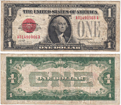 1928. $1. F-1500. VG. Legal Tender Note.
