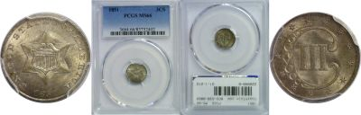 1851. PCGS. MS-66.