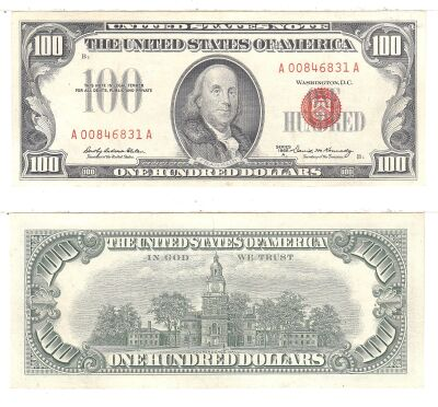 1966-A. $100. F-1551. CAU. Legal Tender Note.