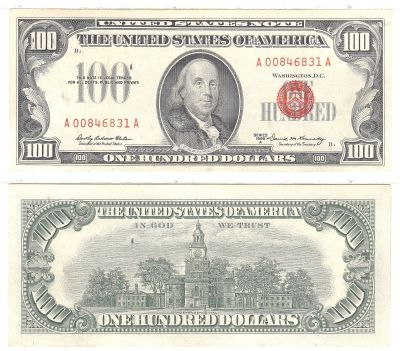 1966-A. $100. F-1551. CAU. Legal Tender Note.