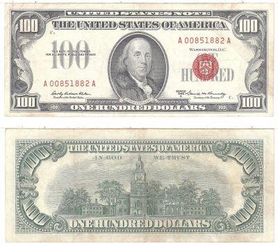 1966-A. $100. F-1551. VF. Legal Tender Note.