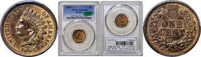 1864 Bronze. PCGS. MS-66. RB.