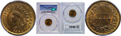 1864 Bronze. PCGS. MS-66. RB.