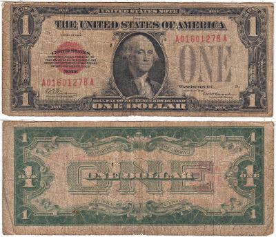 1928. $1. F-1500. GOOD. Legal Tender Note.