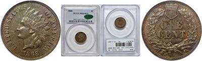 1868. PCGS. MS-64. BN.