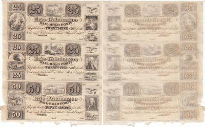 1830's. 25c/25c/50c. CCU. MI.