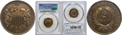 1864 Large Motto. PCGS. PR-64. RB.