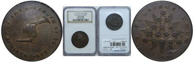 (1792-94). Kentucky Token. NGC. AU-53.